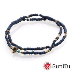 SunKu サンク インディゴ ダイ ビーズ アンクレット&ネックレス beyondcool