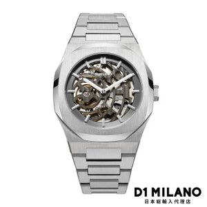 D1ミラノ 時計 メンズ D1 MILANO P701 Automatic Skeleton Watch Silver Case with Silver Bracelet beyondcool
