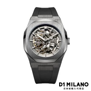 D1ミラノ 時計 メンズ D1 MILANO P701 Automatic Skeleton Watch IP Gun Case with Black Strap|beyondcool