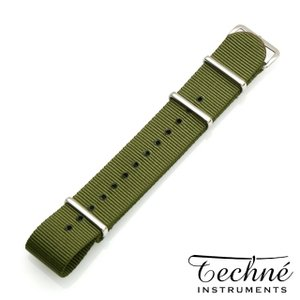 Techne テクネ 替えベルト ナイロンストラップ GB nylon 280mm SS olive|beyondcool