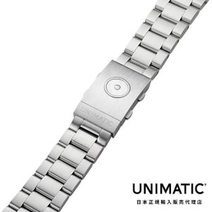 UNIMATIC ウニマティック Solid end links stainless steel bracelet|beyondcool