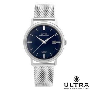 ウルトラ 腕時計 Ultra Superautomatic NAVY / SILVER SILVER MESH|beyondcool