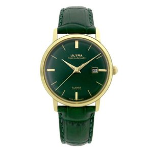 ウルトラ 腕時計 Ultra Superautomatic DARK JADE GREEN / GOLD / DARK GREEN CROC|beyondcool|02