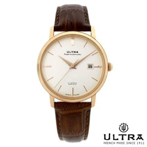 ウルトラ 腕時計 Ultra Superautomatic WHITE / ROSE GOLD COGNAC LEATHER|beyondcool