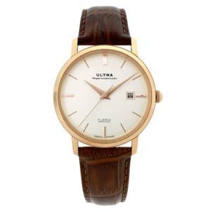ウルトラ 腕時計 Ultra Superautomatic WHITE / ROSE GOLD COGNAC LEATHER|beyondcool|02