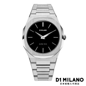 D1ミラノ 時計 メンズ D1 MILANO Ultra Thin Silver Case with Silver Metal Bracelet|beyondcool