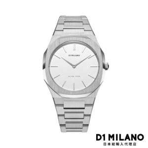 D1ミラノ 日本総輸入代理店 腕時計 メンズ 時計 D1 MILANO Ultra Thin Silver Metal Bracelet|beyondcool