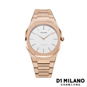 D1ミラノ 日本総輸入代理店 腕時計 メンズ 時計 D1 MILANO Ultra Thin rose Gold Metal Bracelet|beyondcool