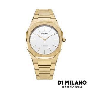 D1ミラノ 日本総輸入代理店 腕時計 メンズ 時計 D1 MILANO Ultra Thin Yellow Gold Metal Bracelet|beyondcool