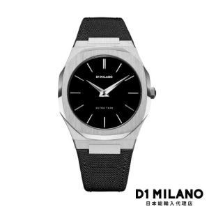 D1ミラノ 日本総輸入代理店 腕時計 メンズ 時計 D1 MILANO Ultra Thin Silver Case Nylon Strap|beyondcool