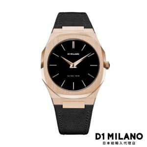 D1ミラノ 日本総輸入代理店 腕時計 メンズ 時計 D1 MILANO Ultra Thin Rose Gold Case Nylon Strap|beyondcool