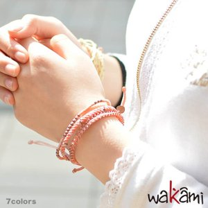 In Red 水川あさみさん着用 ワカミ ブレスレット 公式ストア wakami STAR 3ストランドブレスレット