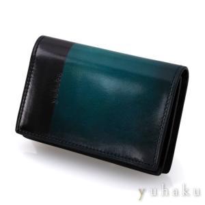 YUHAKU ユハク 名刺入れ カードケース  ブルー beyondcool