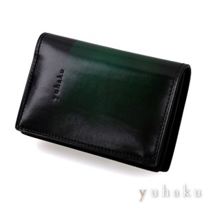 YUHAKU ユハク 名刺入れ カードケース  グリーン beyondcool