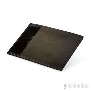 YUHAKU ユハク ルチェ エ オンブラ 定期入れ パスケース グレー 本革(ベビーキップスキン)|beyondcool