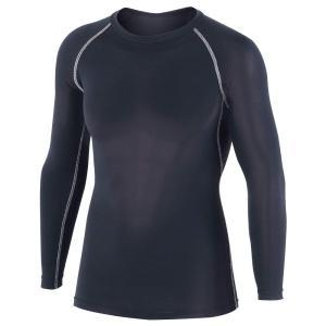 おたふく手袋 ボディータフネス 冷感・消臭 パワーストレッチ 長袖クルーネックシャツ JW-623 ブラック M|bfe