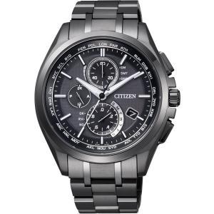 [シチズン]CITIZEN 腕時計 ATTESA アテッサ Eco-Drive エコ・ドライブ 電波時計 ダイレクトフライト DLC仕様 AT8044-56E メンズ|bfe