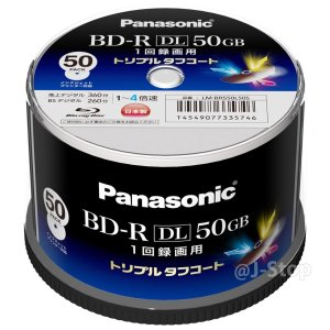 Panasonic 録画用4倍速ブルーレイディスク片面2層50GB(追記型) スピンドル50枚 LM-BRS50L50S【WEB限定】 bfe