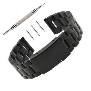 24MMバンドPinhen腕時計 ステンレス メッシュ ベルト ステンレス鋼ミラネーゼ メタル ブレス バンド 16MM 18MM 20MM 22MM 24MM 26MM バネ棒はずし 付属 (24MM St|bfe