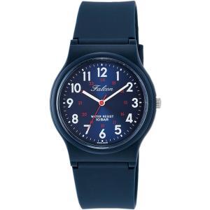 [シチズン キューアンドキュー]CITIZEN Q&Q 腕時計 Falcon ファルコン アナログ表示 10気圧防水 ウレタンベルト メタリックブルー VS04-002|bfe