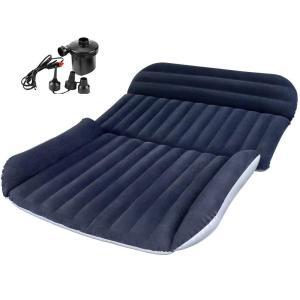 IREGRO 車中泊 マット エアーベット 厚さ12? SUV車用ベッド 簡易ベッド カー用品 後部座席用ベッド エアーマット キャンプ用品 快適空間 仮眠 ダークブルー|bfe