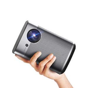 XGIMI Halo Smart Miniプロジェクター、1080P FHD 800 ANSI Lumenポータブルプロジェクター、Android TV 9.0、サポート2K / 4K、ポータブルWifi / Bluetooth Har bfe