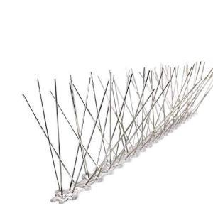 鳩よけ 鳥よけ カラスよけシート 猫 鳥 鳩よけグッズ ベランダ 室外用 ステンレス材 針型スパイク ここダメシート 鳩よけ剣山 (25cm x 4個)|bfe