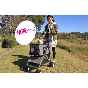 ペットカート  4輪 バギータイプ 折り畳み式  キャリーカート 小型犬 中型犬 犬用 介護用 多頭...