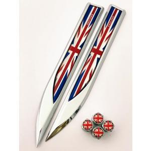 C イギリス 国旗 エンブレム ステッカー バルブキャップ フェンダー ランドローバー LANDRO...