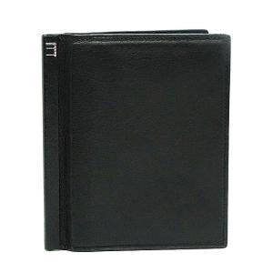 【訳あり】 dunhill ダンヒル 二つ折り財布 カード入れ&小銭入れ FS3000A ブラック|bheart