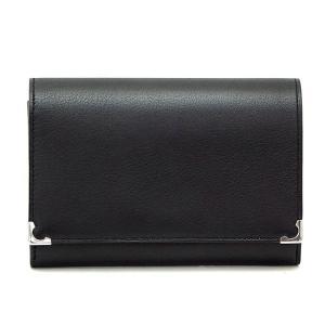 【訳あり】【アウトレット】 Cartier L3000612 EL ブラック 二つ折り財布 カルティエ|bheart