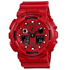CASIO カシオ GA-100C-4A  メンズ デジタル 腕時計レッド クォーツ G-SHOCK Gショック|bheart