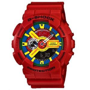CASIO カシオ GA-110FC-1A Crazy Colors メンズ アナデジ 腕時計レッド クォーツ G-SHOCK Gショック|bheart