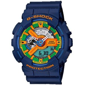 CASIO カシオ GA-110FC-2 Crazy Colors メンズ アナデジ 腕時計ブルー クォーツ G-SHOCK Gショック|bheart