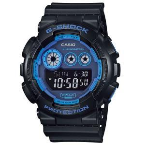CASIO カシオ GD-120N-1B2 BIG CASE メンズ デジタル 腕時計ブラック×ブルー クォーツ G-SHOCK Gショック|bheart