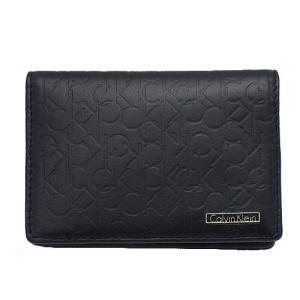 Calvin Klein 74286 カードケース ブラック メンズ 型押し CREDIT CARD CASE カルバンクライン|bheart