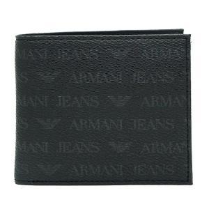 アルマーニジーンズ ARMANI JEANS  06V2G J4 12 NERO ブラック 二つ折り財布 アルマーニ|bheart