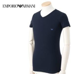 EMPORIO ARMANI 110810-5A717-00135 MARINE 4サイズ Vネック 半そでTシャツ アンダーウェア メンズ 男性用 エンポリオ・アルマーニ 【メール便不可】|bheart