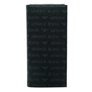 アルマーニジーンズ ARMANI JEANS 938543 CC996 00020 NERO ブラック 長財布 アルマーニ|bheart
