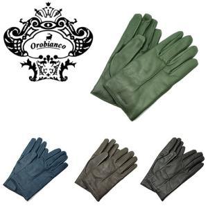 Orobianco オロビアンコ ORM-1401 レザーグローブ 4色 手袋 メンズ|bheart