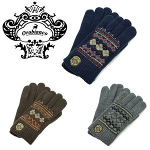 Orobianco オロビアンコ ORM-1524 メンズ ニット グローブ タッチパネル対応 3色 手袋|bheart