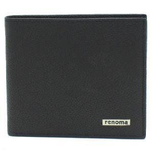 renoma レノマ REM16 BLACK 二つ折り財布 ブラック|bheart