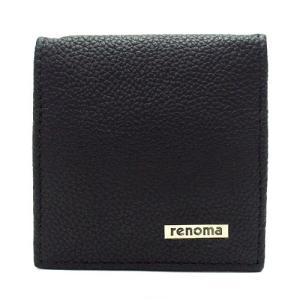 renoma レノマ REM18 BLACK コインケース ブラック|bheart