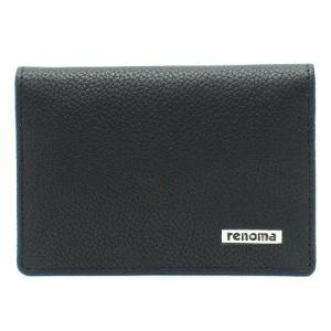 renoma レノマ REM19 BLACK カードケース 名刺入れ ブラック|bheart