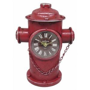 アメリカン インテリア 時計 ブルックリン 男前 アンティーククロック ビンテージ おしゃれ 置時計 消火栓 男性 誕生日プレゼント|biaro