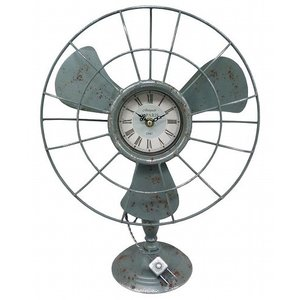 アメリカン インテリア 時計 ブルックリン 男前 アンティーククロック ビンテージ 西海岸 おしゃれ 置時計 扇風機 ヴィンテージ 男性 誕生日プレゼント|biaro