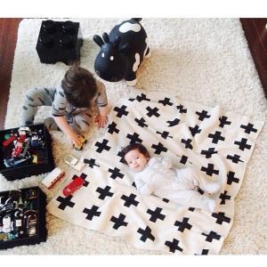 ブランケット 赤ちゃん おしゃれ ベビー クロス キッズ 子供  プレイマット ト 毛布 布団|biaro