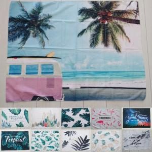 タペストリー おしゃれ 布 西海岸 インテリア カリフォルニア 雑貨 リビング壁掛け 夏 ハワイ 海 風景 布 ポスター biaro