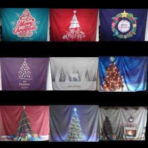 クリスマスツリー タペストリー 大判 リビング壁掛け 雑貨 オブジェ リーフ デコレーション オーナメント 電飾 おしゃれ タペストリーとは 飾り方 biaro