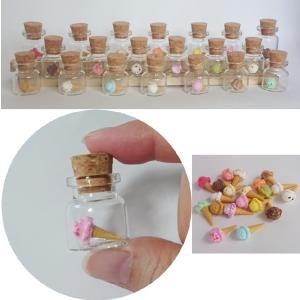 人気のミニチュアボトルセット 食品サンプル ガチャガチャ おもちゃ アイスクリームセット かわいい 母の日のプレゼントにおすすめ|biaro